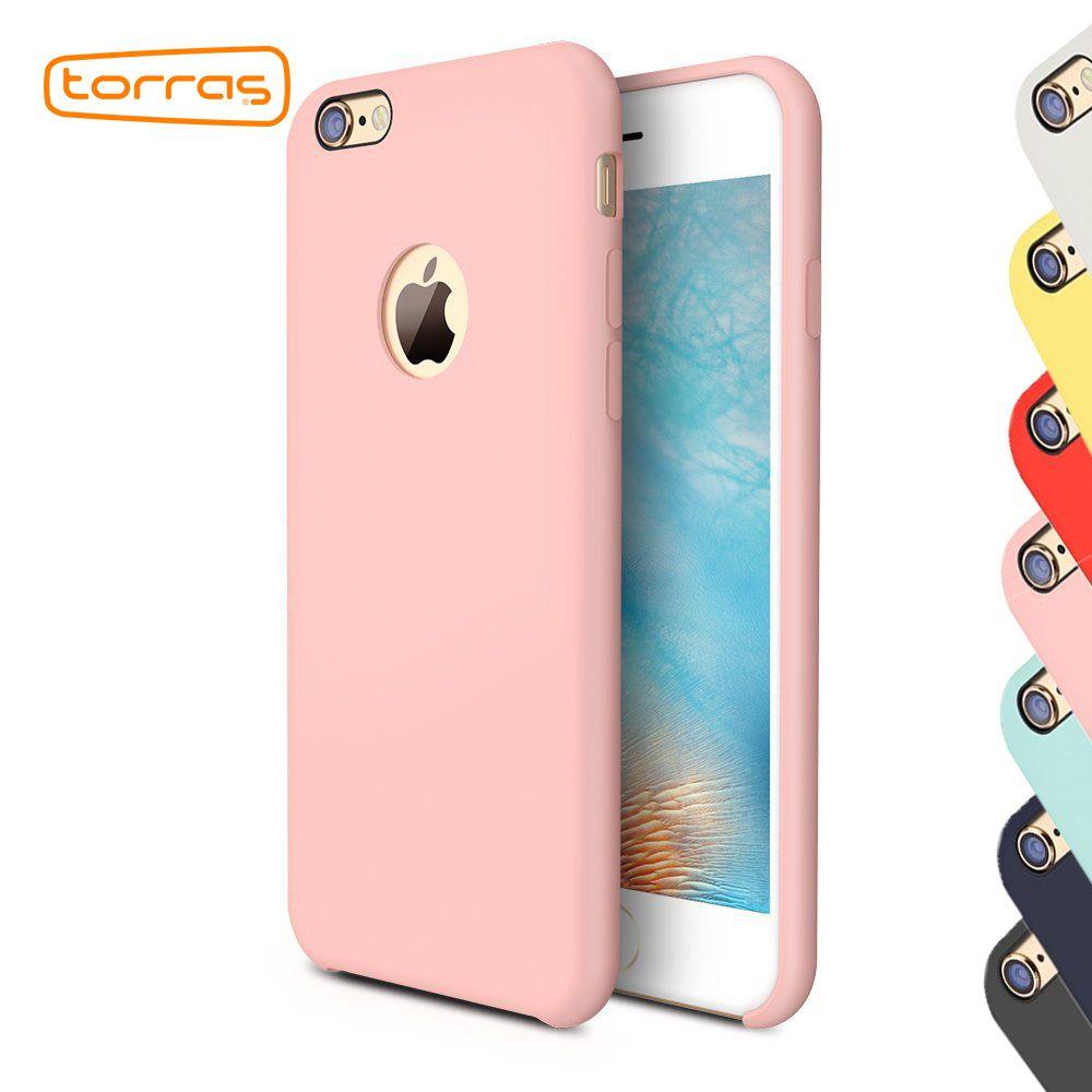 TORRAS Montrer Logo Étui En Silicone pour iPhone 6 6 s plus Cas de Téléphone Super De Protection Couverture Arrière Cas de Téléphone pour iPhone 6 6 s Fundas