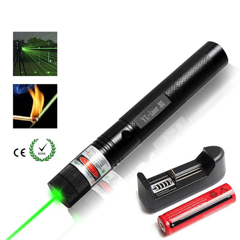 Военная Униформа 532nm зеленый лазерная указка 5 МВт 303 лазер verde Pen Sky star сжигание луч ожог матч с 18650 батарея зарядное устройство