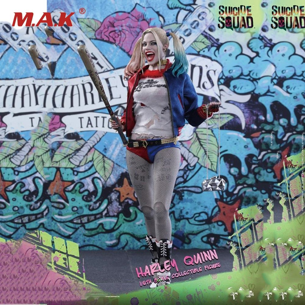 Collectible Hot Toys 1:6 Scale Suicide Squad Harley Quinn MMS383 Full Set Action Figure for Holiday Gift