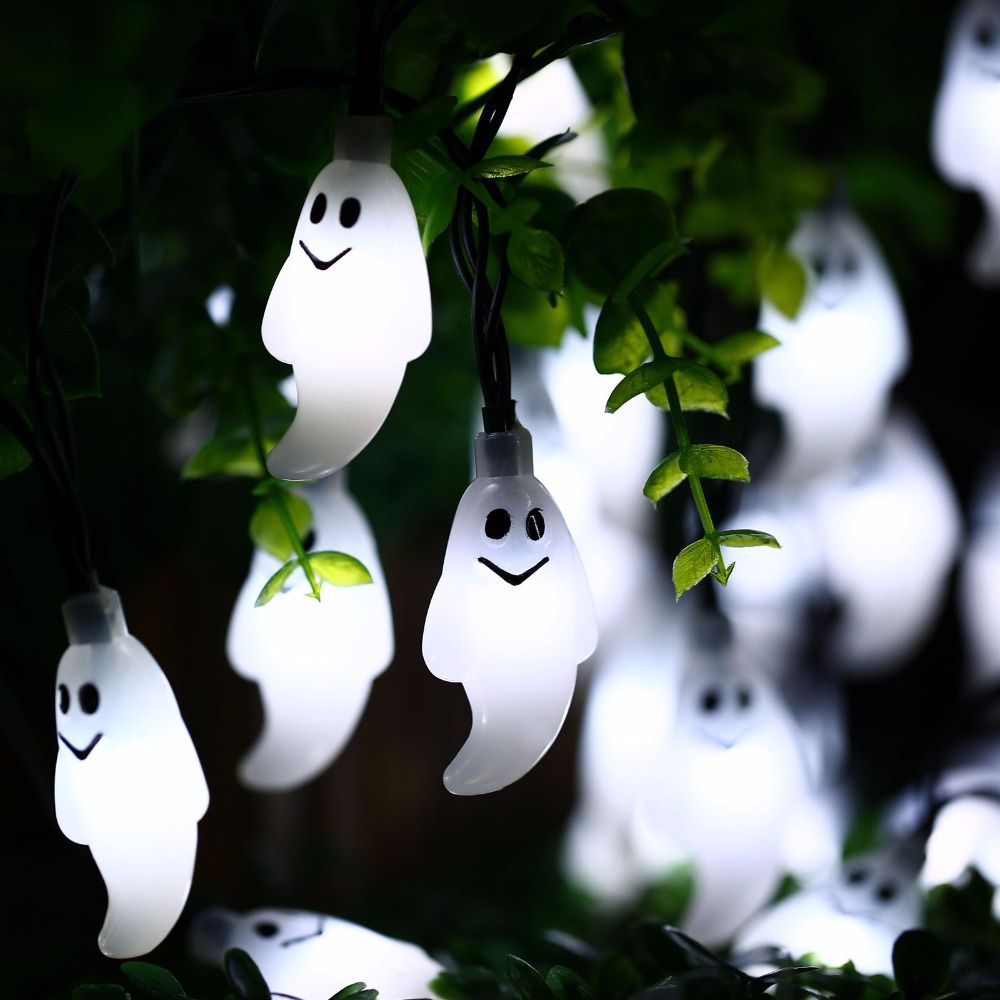 New Arrive 30 Led Ghost Solar String Lights Outdoor Solar String Waterproof Solar Power For Garden Patio Yard Christmas Parties