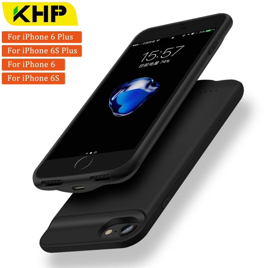 2018 KHP New Battery Charger Case For iPhone 6 Plus 6s Plus Case 2500/3200mAh Slim Power Bank Case External Battery PowerBank