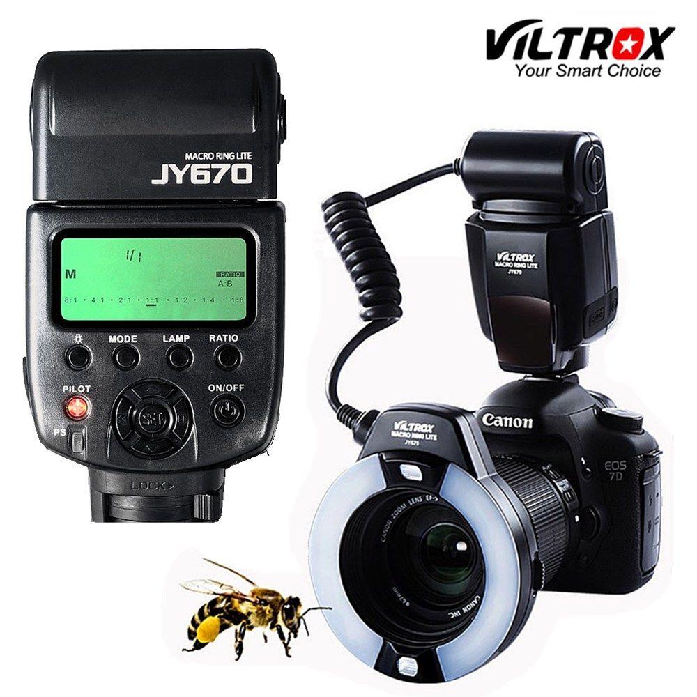 Viltrox JY-670 DSLR Kamera foto LED Macro Ring Lite Flash Speedlite Licht für Canon Nikon Pentax Olympus DSLR