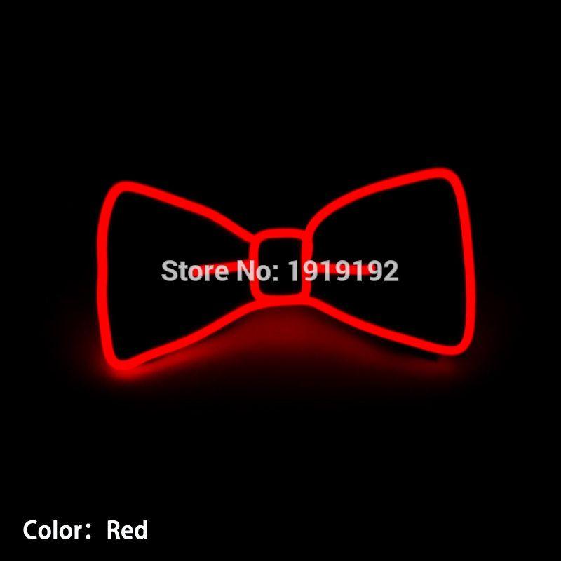 2017 Nouvelle Conception Lumière 10 Couleur Sélectionnez Mode Light Up LED arc Cravate rougeoyant EL fil Arc Cravate Pour Soirée, DJ, bar, club ou spectacle