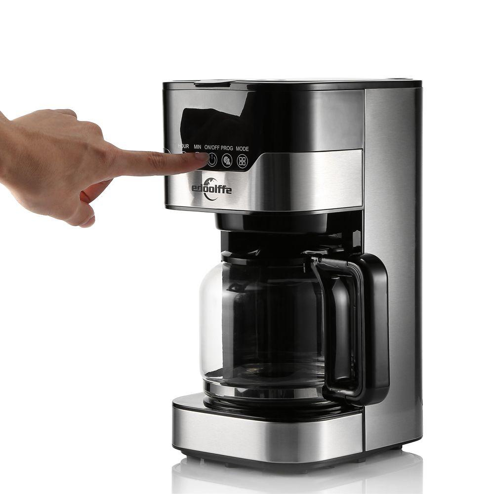EDOOLFFE MD-259 T Smart Programmierbare Drip Kaffee Maschine Mit Glas Topf 1.5L Anti-Tropf Edelstahl Elektrische kaffee Maker