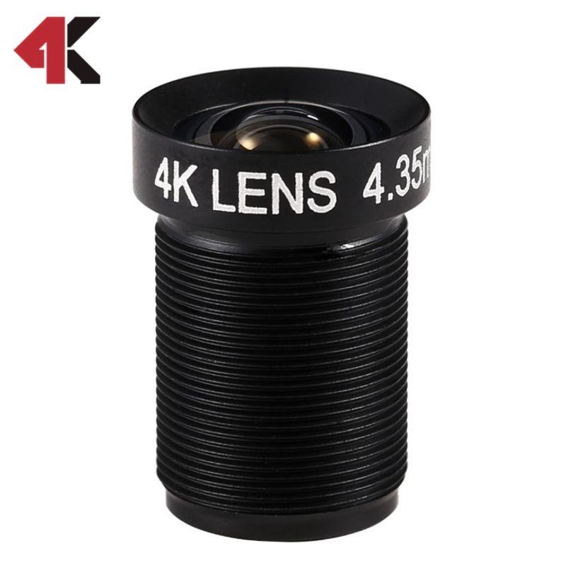 4.35MM Lens 1/2.3 Inch 10MP HFOV 72D Flat 4K Lens for Go pro Xiaomi Yi SJCAM DJI Phantom 3/4 Drones 2017 Newly Hot Camera Lens