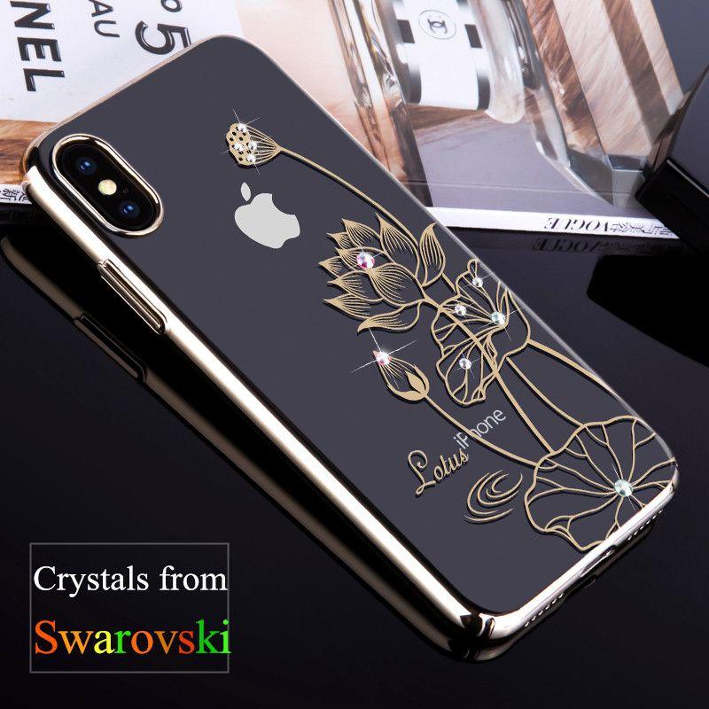 KINGXBAR für iPhone X 10 Fall Swarovski Element Kristalle Diamant strass Luxus Hard Case für iPhone X Abdeckung Telefon Coque Capa