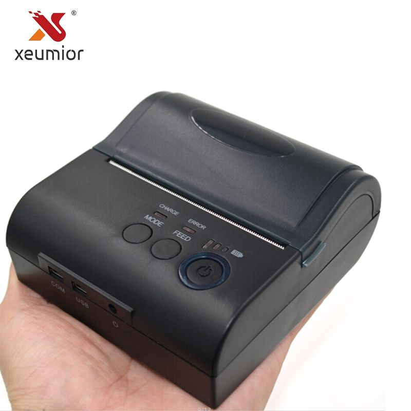 Xeumior 80mm Mini Mobile Thermal Receipt Printer Android Label Barcode Printer With Free SDK Portable Bluetooth 4.0 Printer