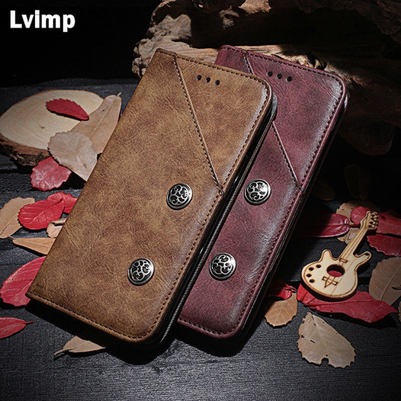 For Xiaomi Redmi 5 Plus S2 6 6A 4A Note 4X 5A 5 Prime Pro Case Luxury Retro Patter Flip PU Leather Wallet Case Phone Bags Cover
