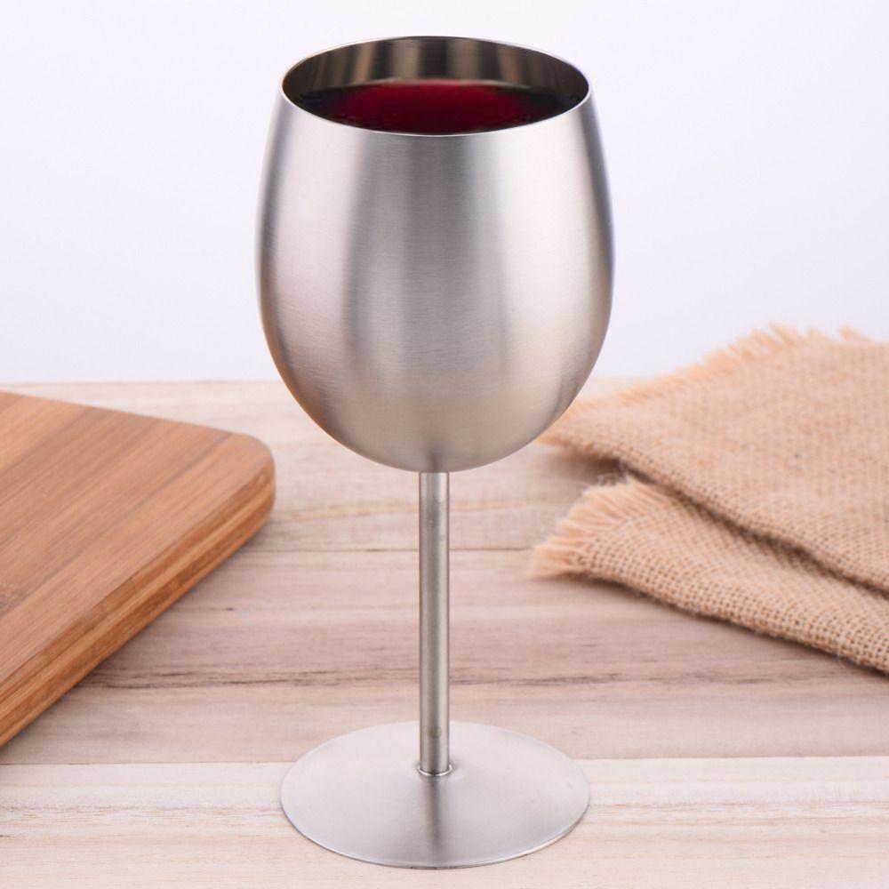 Европа Стиль вина Стекло Нержавеющаясталь Кубок Большой Ёмкость красное вино чашки шампанского Стекло Творческий дом питьевой ware