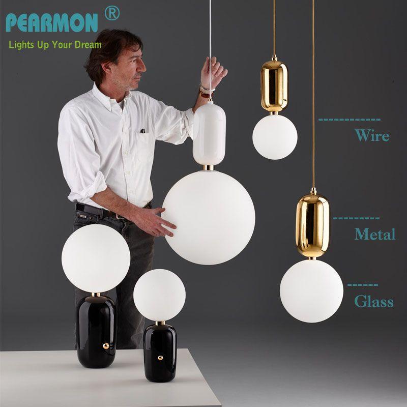 Pearmon Modern Milk Globe Glass Pendant Lights For Dining Room Bar Restaurant Deco Kitchen Room Hanging Pendant <font><b>Lamp</b></font> Fixtures