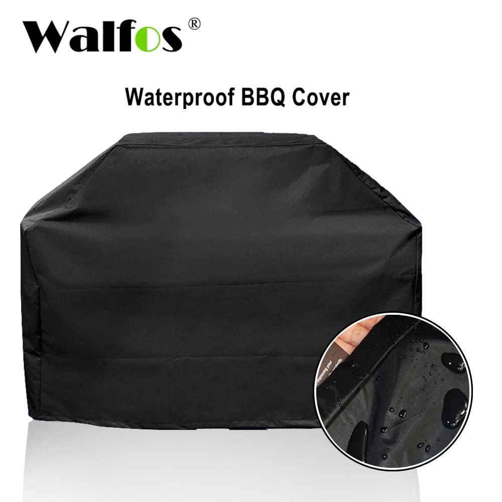 Housse de barbecue étanche pour barbecue de marque WALFOS grille de pluie extérieure Barbacoa Anti-poussière protecteur pour Barbe électrique à charbon de bois