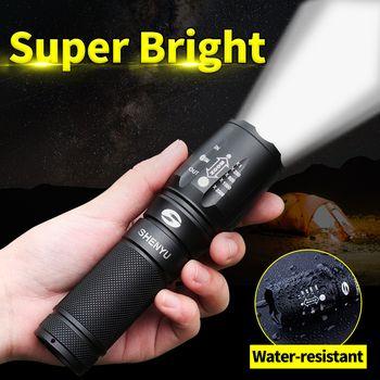 SHENYU LED lampe de Poche 18650 26650 Torche Étanche lampe de Poche Cree XML t6 1000 lumen Zoomables Lumière