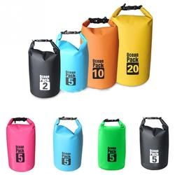 2/5/10/15/20/30L Outdoor Boating Kayaking PVC Waterproof Dry Bag Lightweight Diving floating Camping Hiking Swimming Bags