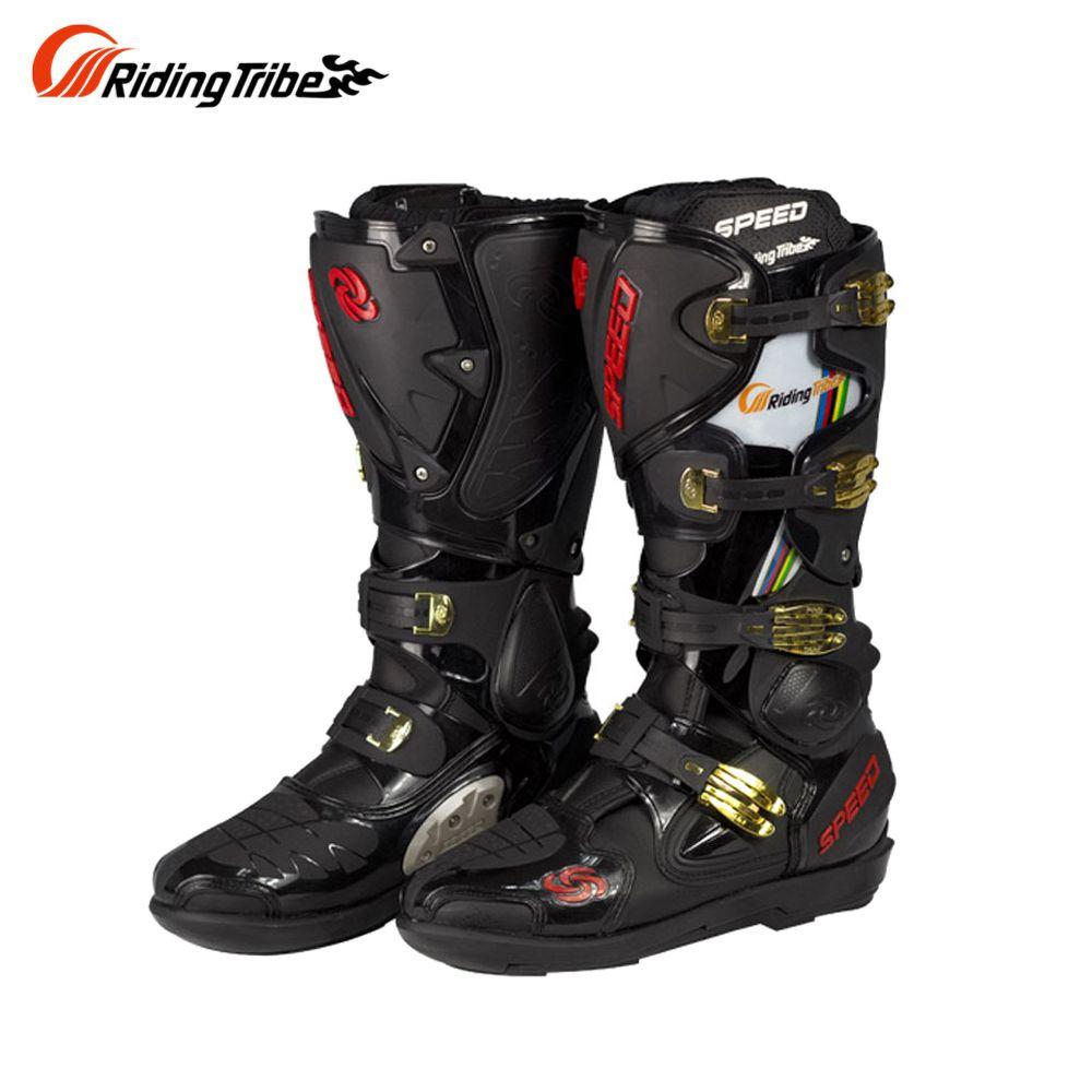 Reiten Tribe Motorrad Stiefel Leder Geschwindigkeit Motorrad Lange Schuhe Off-road Motocross Motorrad Stiefel Motorrad Schuhe Botas Moto