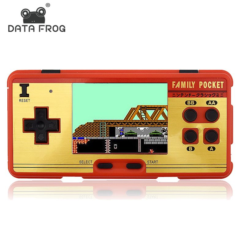 Data Frog Portable Handheld Game Players Built in 638 Classic Games <font><b>Console</b></font> 8 Bit Retro Video Game For Gift Support AV Out Put