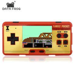 Data Frog portátil Reproductores de juegos portátiles construido en 638 juegos clásicos consola 8 poco retro video juego para regalo soporte de salida AV poner