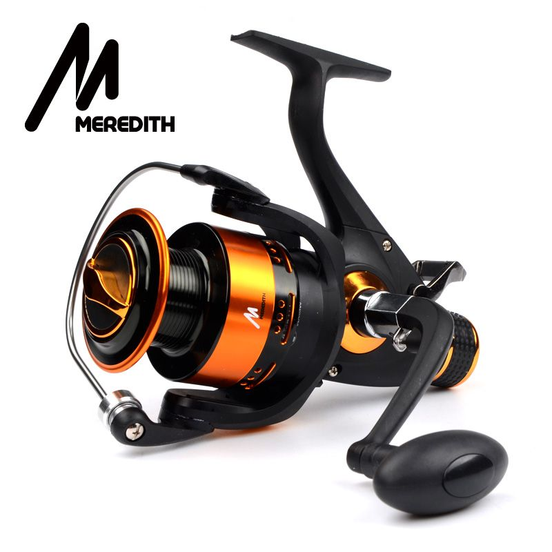 Meredith 4BB 8KG 5.2:1 Double Drag CNC Aluminum Handle Metal Spinning Reels <font><b>Fishing</b></font> Reels Carp Reels 3000 4000 5000 6000 Series