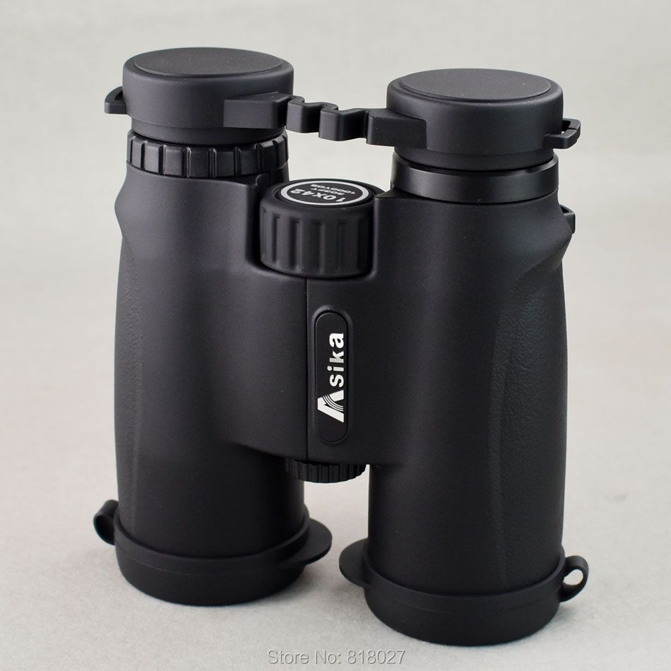 Asika 10x42 Fernglas Hoher Qualität Camping Jagd Scopes Teleskope Bak4 Prism Optics Wasserdichte Stickstoff Ankunfts-fernglas De Caza