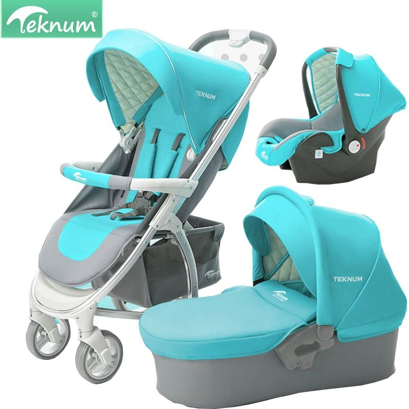 Teknum Baby carriage Can sit and reclining fold High landscape Lightweight 2 in 1 / 3 in 1baby carriage free delivery