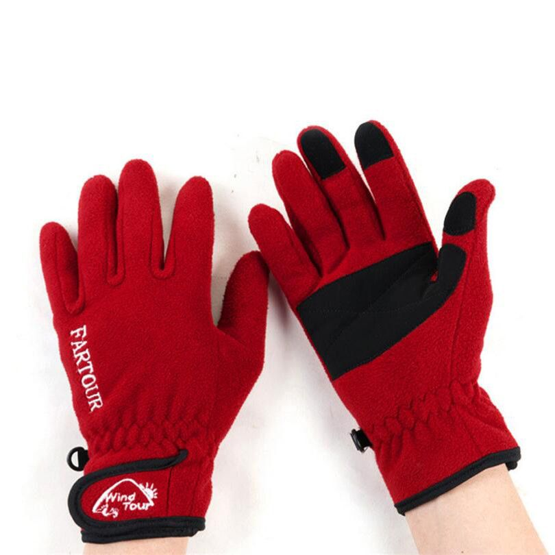 Warm Windproof Touched Screen Ski Gloves Mittens Fleece Outdoor Cycling Skiing Gloves Riding Running Sports Gloves