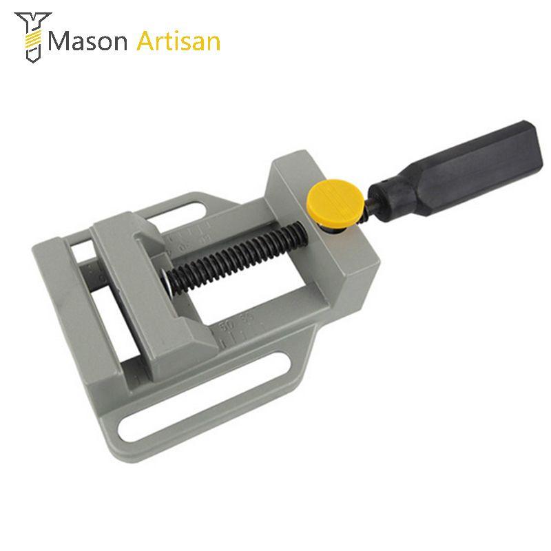 Mini pince plate en aluminium pour poignée de support de forage etabli de gravure outil de bricolage fraiseuse pinces manuelles banc de travail du bois