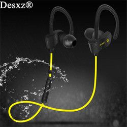 Handphone Desxz Olahraga Bluetooth Headset Wireless In-Ear Stereo Earphone dengan Mikrofon untuk iPhone Samsung Xiaomi