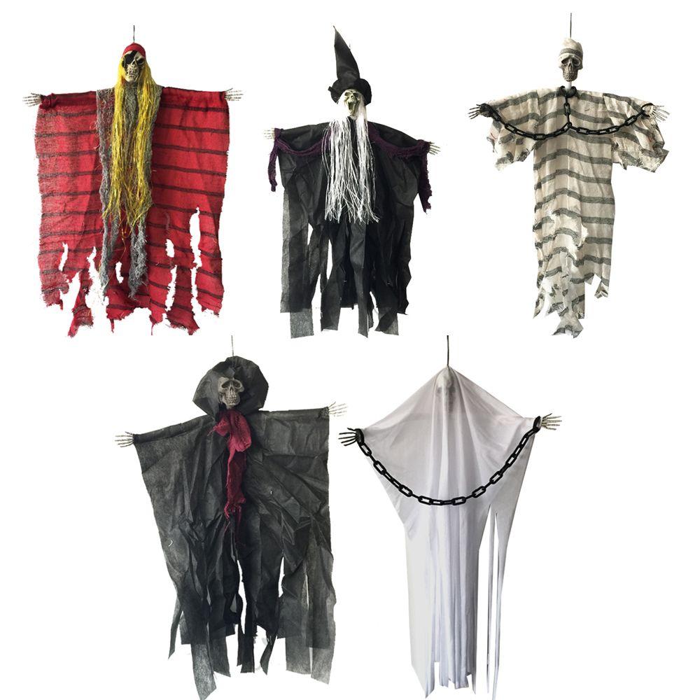 24 pouces 60 cm Halloween suspendu Pirate sorcière prisonnier faucheuse fantôme hanté maison échapper horreur Halloween décorations