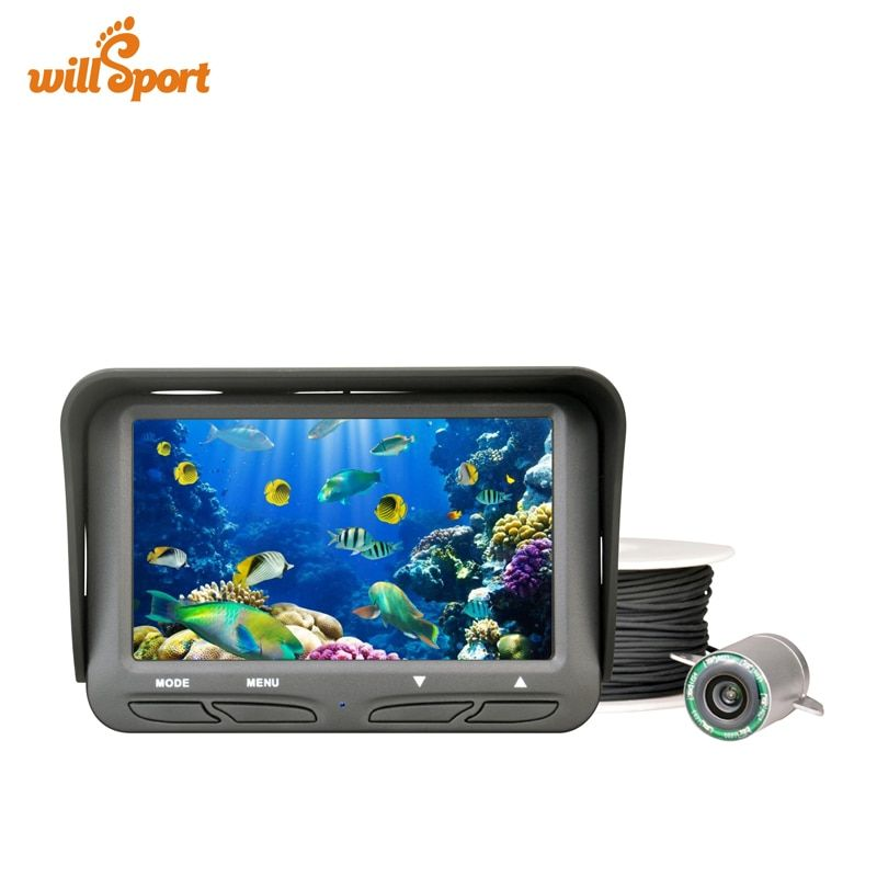 720P Underwater Ice Fishing Camera 4.3 inch LCD Monitor 6 LED Night Vision Video Camera 30m Cable Visual Fish Finder