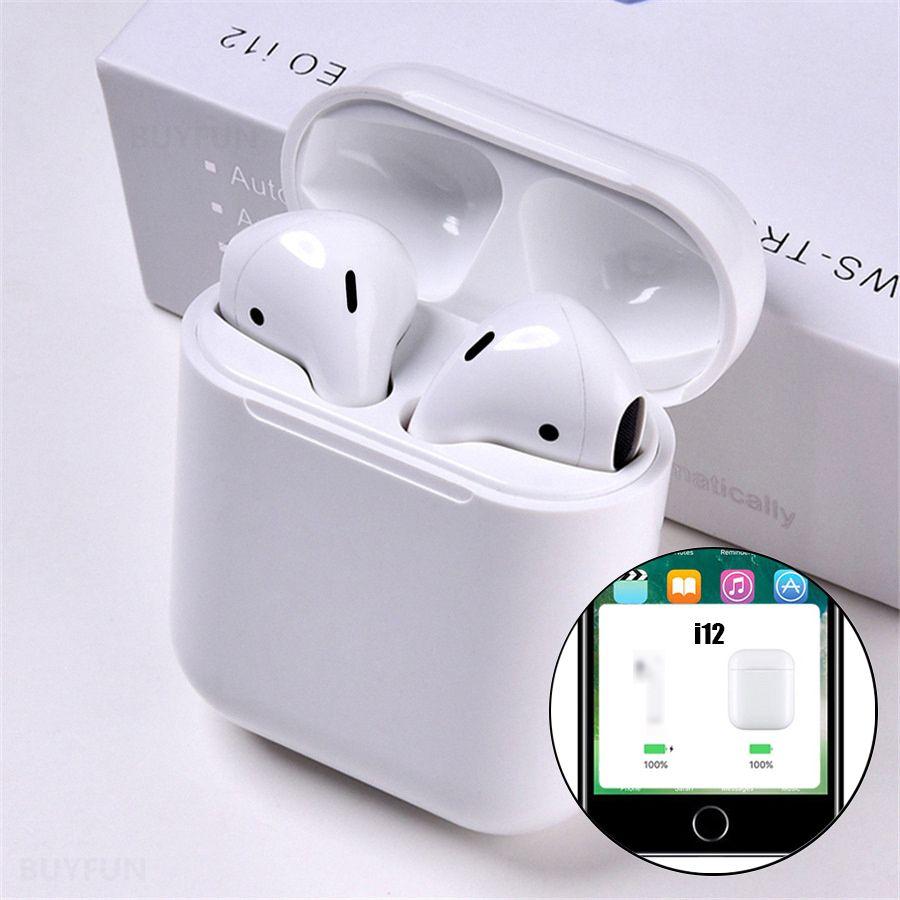 I12 tws Pop Up Bluetooth écouteurs sans fil contrôle tactile écouteurs casque i12tws pas 1:1 réplique i30 tws i20 i10 i30tws lk-te9