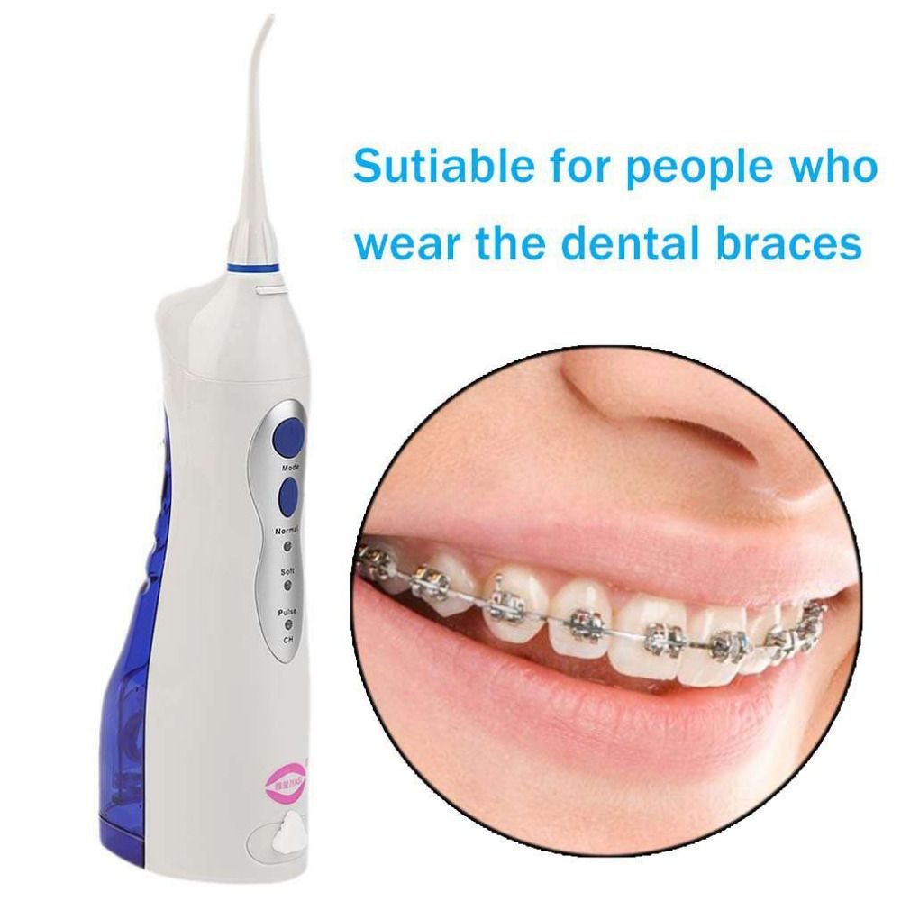 2017 Newest V8 Potable Oral Irrigator Water Toothpick Teeth Whitening Water Flosser US/UK/EU Plug Dental Tooth Cleaning Tool