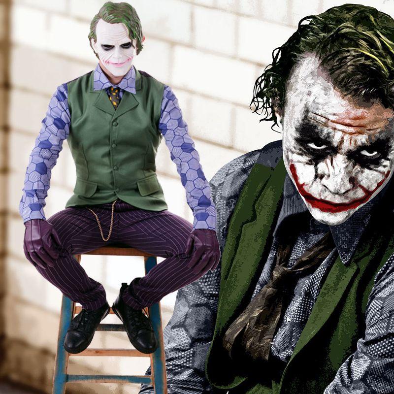 Batman The Dark Knight Rises Joker Cosplay Uniform Suit Men's Halloween Costumes Carnival Fancy Party Costume Custom Made
