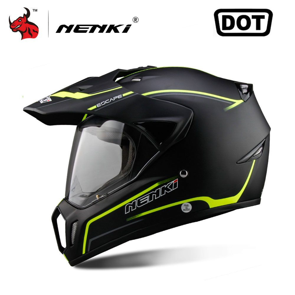 NENKI Full Face Motorcycle Helmet Motocross Helmet ATV Moto Helmet Cross Downhill Off-road Helmet Men Casco Moto DOT 5Color