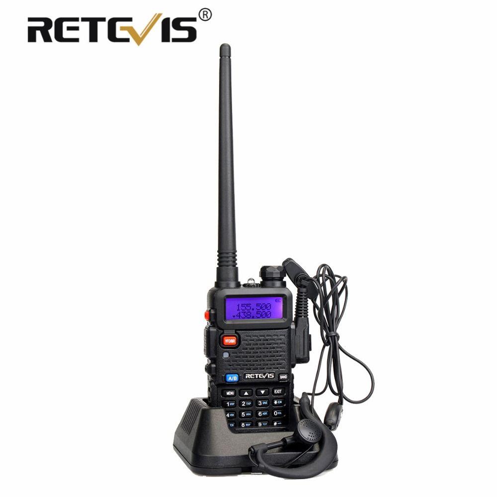 Retevis RT-5R Talkie Walkie 5 w VHF UHF Double Bande Émetteur-Récepteur Hf VOX FM Amateur Portable Ham Radio Station Talkie -walkie RT5R