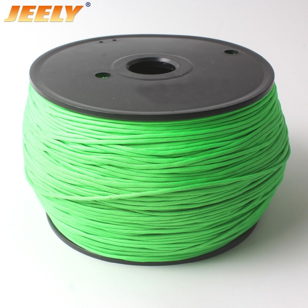 JEELY 1.8mm Spectra Jacket Rope Round Stiff Wishbone Towing Rope 32 Strands 50M Cord WINCH ROPE
