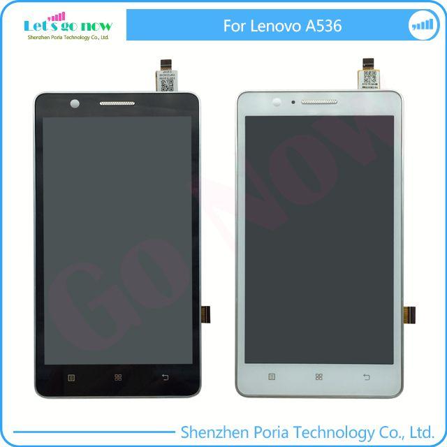 FLPORIA LCD D'affichage Pour Lenovo A536 + Écran Tactile Numériseur Accessoires Assemblée de Remplacement Avec Cadre + Numéro de Piste