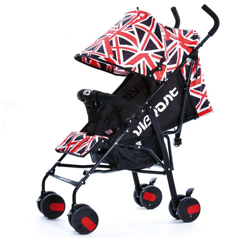 Portable baby stroller sit lying folding four wheel cart Summer easy Carry Kinderwagen Light Umbrella Stroller bebek arabasi