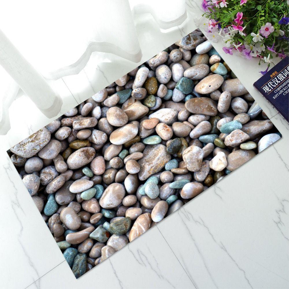 New Welcome Doormats Rubber Door Mat 3D Cobblestone Carpet Everything for The Kitchen Living Room Bedroom Floor Mats Rugs Tapete