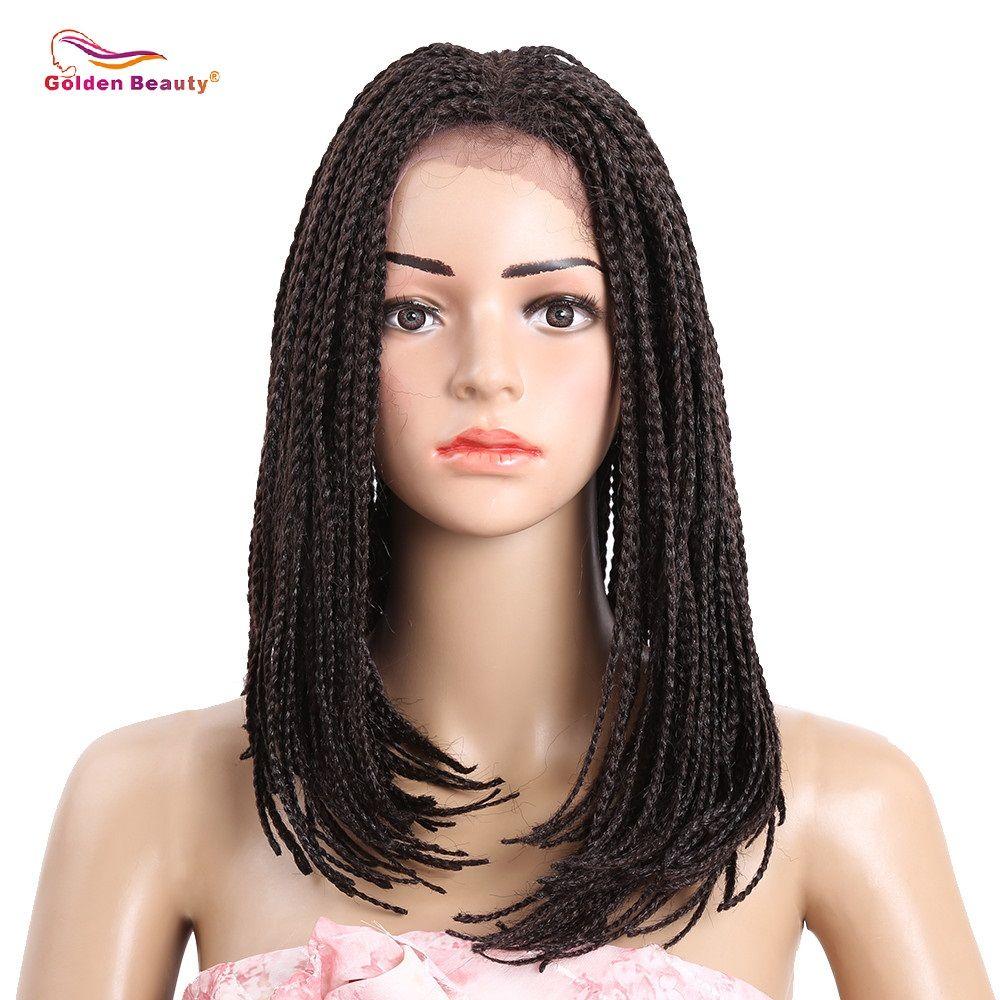 Долго Боб Синтетические волосы на кружеве парик с ребенком волосы жаропрочных синтетических афроамериканца плетеные Искусственные парики...