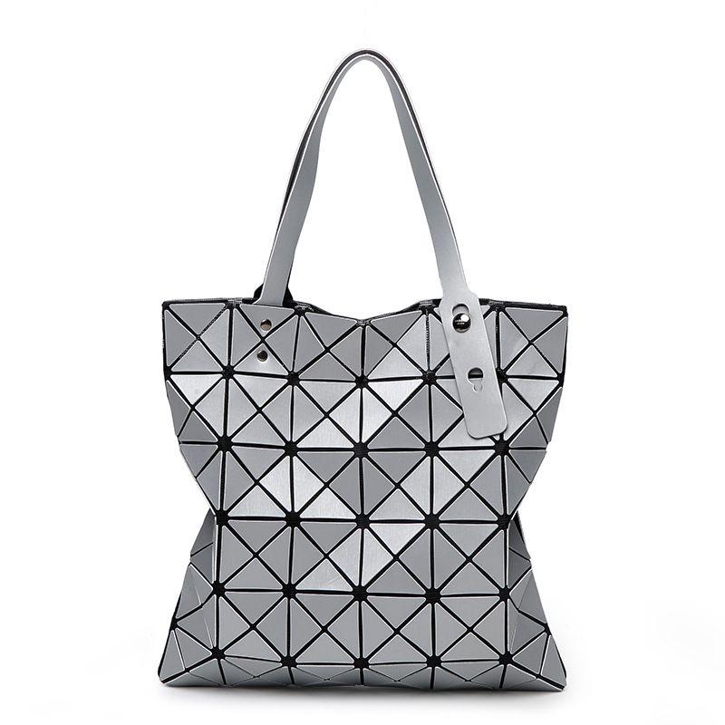 Fashion Diamond Women Bao Bags Geometry Matte Handbag Female Geometric Casual Tote Lady Shoulder Bag Top-Handle Bag With Logo