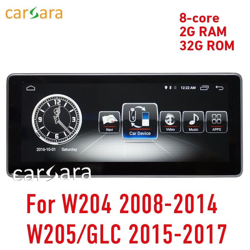 2G RAM Android display for C Class W204 2008-2014 W205 GLC 10.25