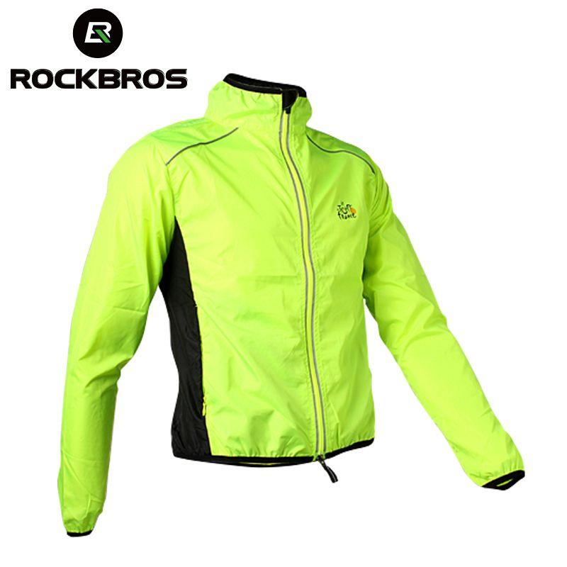 ROCKBROS Велоспорт Для мужчин для верховой езды дышащий светоотражающие Джерси mtb цикл Костюмы с длинным рукавом ветрозащитный быстросохнущая ...