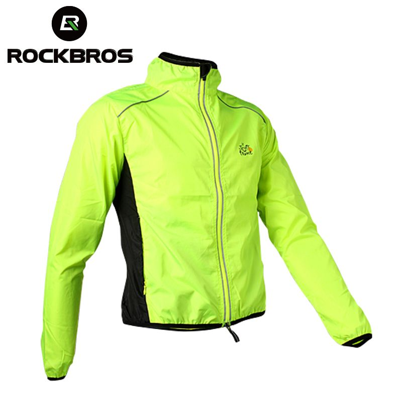 ROCKBROS Cycling Men's Riding Breathable Reflective <font><b>Jersey</b></font> MTB Cycle Clothing Long Sleeve Windproof Quick Dry Coat Jacket 6Color