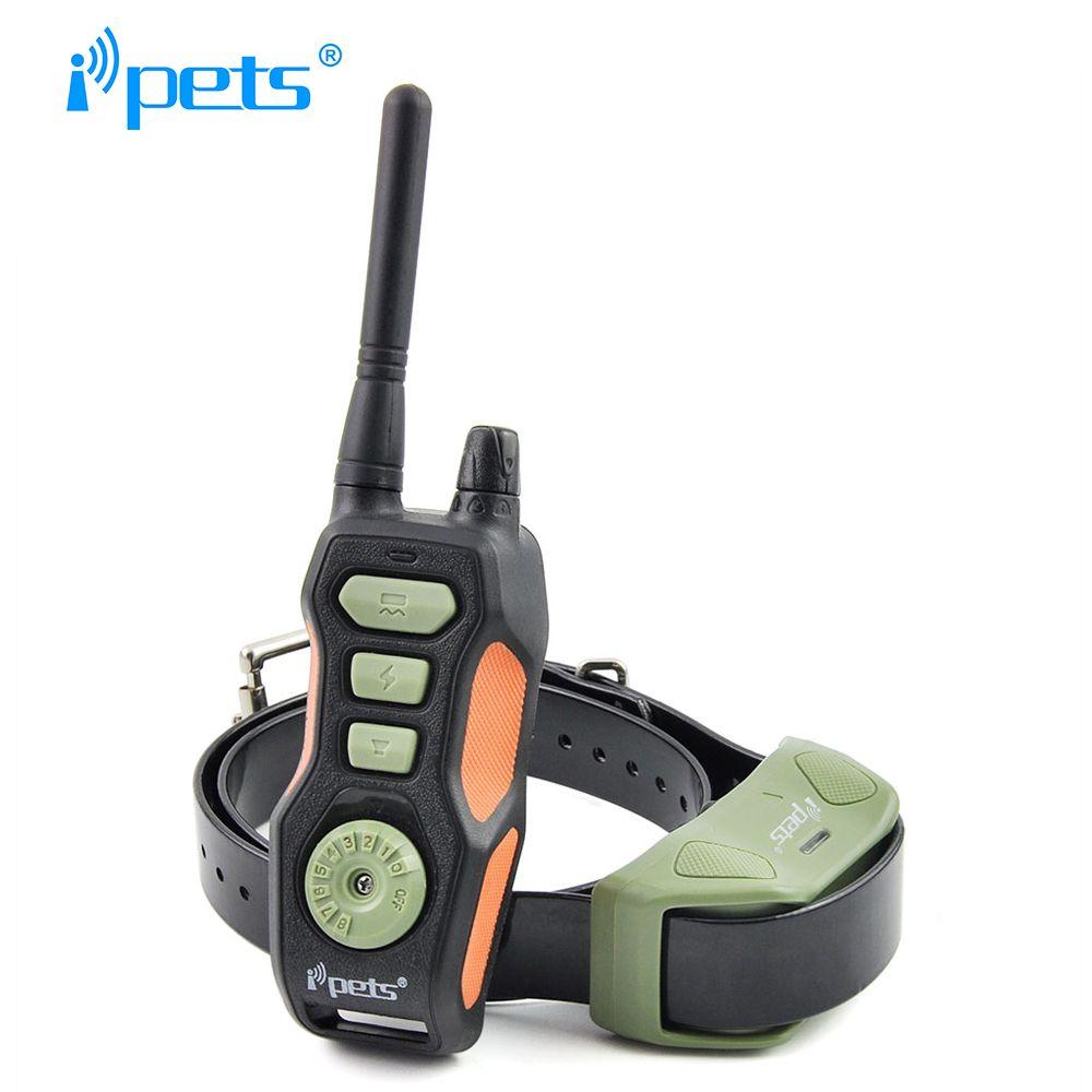 Ipets 618-1 Heißer verkauf 800 mt remote erziehungshalsband wiederaufladbare und wasserdicht E-kragen für hunde