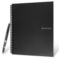Elfinbook 2.0 Smart Réutilisable Effaçable Portable Everlast Micro-ondes Vague Nuage Effacer Evernotes Bloc-Notes Note Pad Doublé Avec Stylo