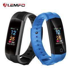 LEMFO Bracelets Bande À Puce Moniteur de Fréquence Cardiaque Fitness Bracelet IP67 Étanche Bande À Puce Bluetooth pour IOS Android Téléphone