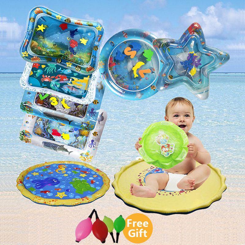 2019 créatif double usage jouet bébé gonflable Patted Pad bébé gonflable coussin d'eau Prostrate coussin d'eau tapis de jeu amusant Pat Pad