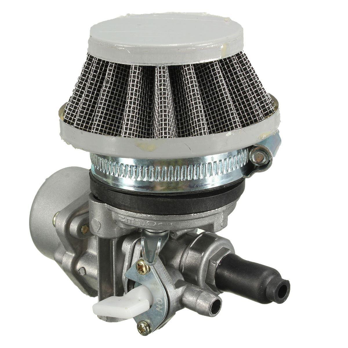 Mini Carb Carburetor w/ Air Filter For 47cc 49cc Mini Moto ATV Dirt Pocket Bike