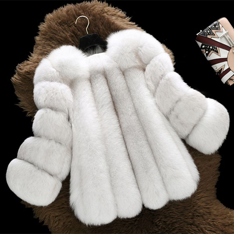 FURSARCAR Winter Women Real Fox Fur Coat Thick whole Short Natural Fox Fur Female Jacket New Fashion Lady Warm Russia Fur Coat