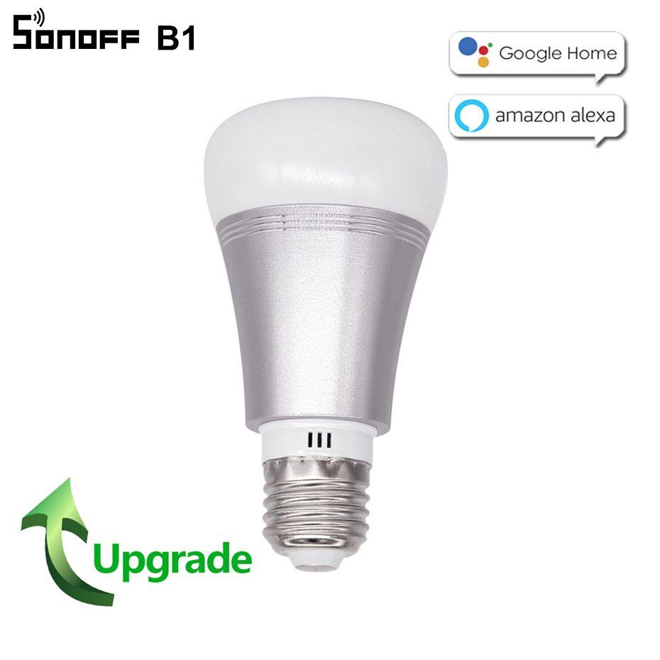 2018 nouveau Sonoff B1 wifi lampe à LED intelligent E27 Dimmable RGB minuterie ampoule couleur changeante télécommande Wifi ampoule fonctionne avec Alexa