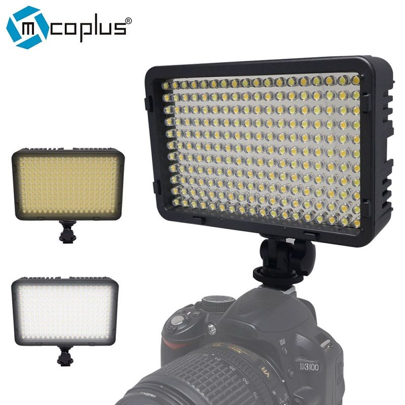 Mcoplus 168 Bi-Color 3200K/7500K LED Video Light for Canon,Nikon, Pentax, Sansung, Digital SLR Camrea and DV Camcorder